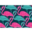 seamless pattern with hand drawn flamingo birds vector image