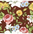 Seamless Pattern with Vintage Wildflowers vector image vector image