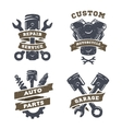 Set of auto logos garage service spare parts vector image vector image
