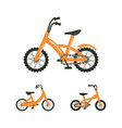 set of bike vector image