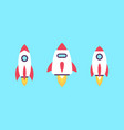 set rockets vector image vector image