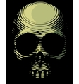 Skull engraving imitation vector image vector image