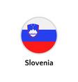 slovenia flag round flat icon european country vector image vector image
