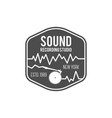 sound recording studio label badge vector image vector image