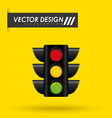 traffic signal design vector image