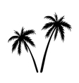 Two palms sketch vector image vector image