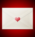 Valentine love letter vector image