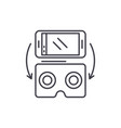 virtual glasses for gadgets line icon concept vector image vector image
