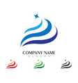 water wave logo template design vector image vector image