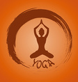 Yoga label with Zen symbol and Lotus pose vector image vector image