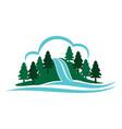 mountain waterfall vector image