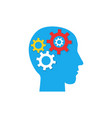 pictograph of gear in head flat icon vector image