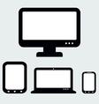 Responsive Web Design Computer Notebook Tablets vector image