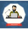 Freelancer vector image