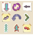 Arrows web icons set Hand drawn and isolated vector image