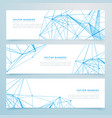 abstract digital wire mesh headers set of three vector image vector image