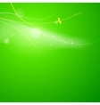 Abstract green lights vector image vector image