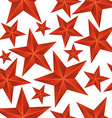 abstract red stars seamless pattern vector image vector image