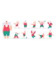 active santa sport fairytale characters santa vector image vector image
