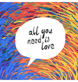 all you need colorful vector image vector image