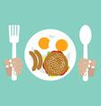 American Breakfast vector image vector image