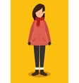 avatar person with winter clothes vector image