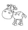 Baby cow cartoon vector image vector image
