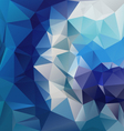 blue diamond polygonal triangular pattern vector image vector image