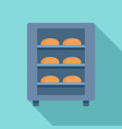 bread factory oven icon flat style vector image vector image
