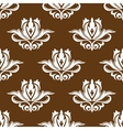 Brown and white floral seamless pattern vector image vector image