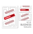 business templates set vector image vector image