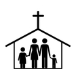 catholic family icon image vector image vector image