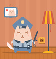 Character police in officers cap and in the form vector image vector image