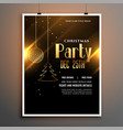 christmas party black and gold poster flyer vector image vector image