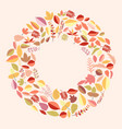 circle with autumn leaves vector image vector image