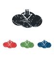 Cloud download grunge icon set vector image vector image