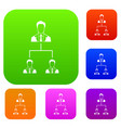 company structure set collection vector image vector image