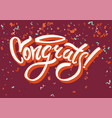 congratulations on funny holiday graphic text vector image vector image