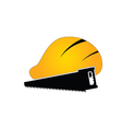 construction tin hat with saw vector image vector image