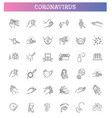 coronavirus line icons vector image