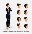 create your isometric womens hairstyles vector image vector image
