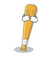 crying baseball bat character cartoon vector image vector image