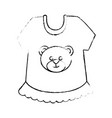 cute baby clothes vector image
