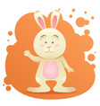 Cute cartoon bunny toy card vector image vector image