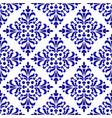 decorative floral blue pattern vector image vector image