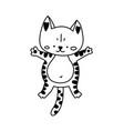 doodle kitten character vector image