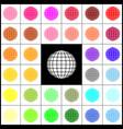 earth globe sign felt-pen 33 colorful vector image vector image