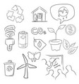 Eco green icon set of environment in sketch