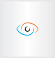 eye logo sign symbol vector image vector image