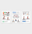 flat bicycle posters vector image vector image